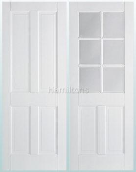 LPD Premium White Canterbury Solid Panel Doors and Glazed Doors
