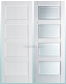 LPD Premium White Contemporary Solid Panel Doors and Glazed Doors