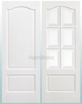 LPD Premium White Kent Panelled and Glazed Standard Doors