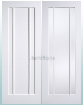 LPD Premium White Lincoln Solid Panel Doors and Glazed Doors