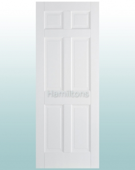 LPD Premium White Regency 6 Panel Solid Doors
