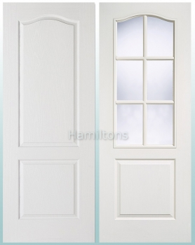 LPD White Classical 2 Panel, 6 Light Glazed Doors and FD30 Fire Doors