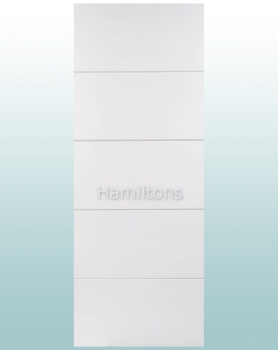 LPD White Horizontal 4 Line Panel Doors