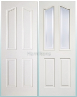 LPD White Mayfair 4 Panel and Glazed Doors