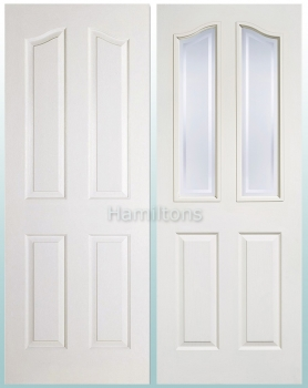 LPD White Mayfair 4 Panel and Glazed Standard Doors