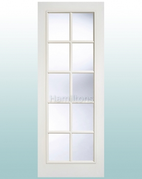 LPD White SA Glazed 10 Light Doors