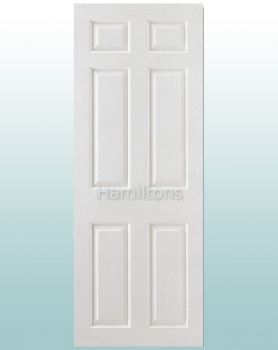 LPD White Smooth 6 Panel Standard Doors and Fire Doors