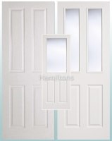 LPD White Textured 4 Panel and 2 Panel / 2 Light Glazed Doors
