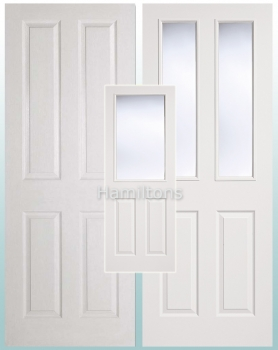 LPD White Textured 4 Panel and 2 Panel / 2 Light Glazed and Fire doors