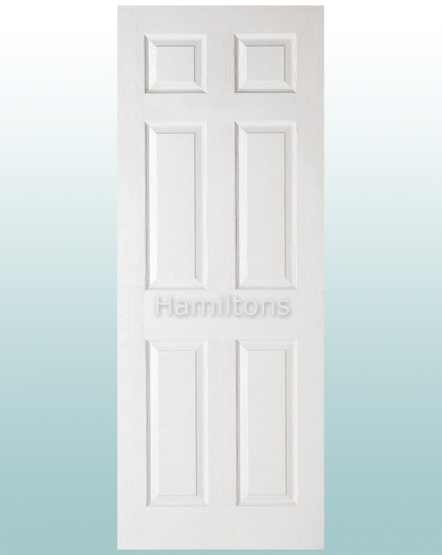 outlet store a5d43 17405 LPD White Textured 6 Panel Doors