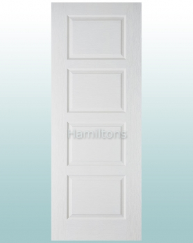 LPD White Textured Contemporary 4 Panel Doors