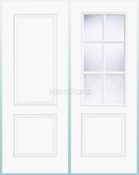 LPD White Bruges 2 Panel and 6 Light Glazed Doors