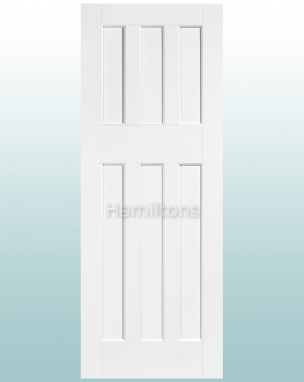 LPD Premium White DX 60's Solid Panel Doors