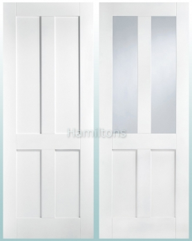 LPD Premium White London Solid Panel and Glazed Doors