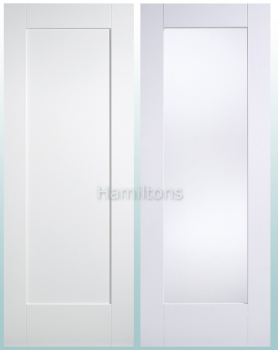 LPD Premium White Shaker 1L Panel and 1G Glazed Doors