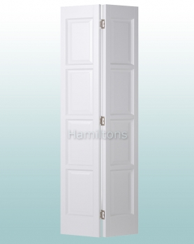 Woodland White Bardsley 4 Panel Bi-folding Door Many Sizes