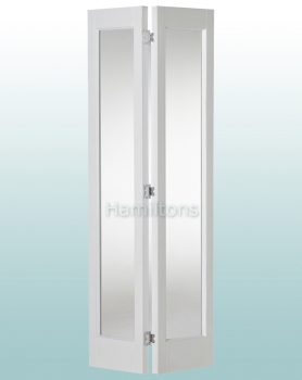 Woodland White Marston Clear Glass Bi-folding Door Various Sizes