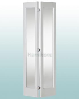 Woodland White Marston Frosted Glass Bi-folding Door Many Sizes