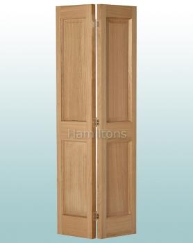 Woodland Oak Victorian 2P Bi-folding Door Many Sizes
