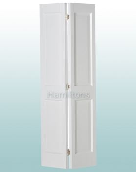 Woodland White Victorian 2P Bi-folding Door Many Sizes
