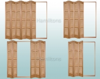 Slimfold Oak Bardsley 4 Panel. 3, 4, 5 and 6 Folding Doors