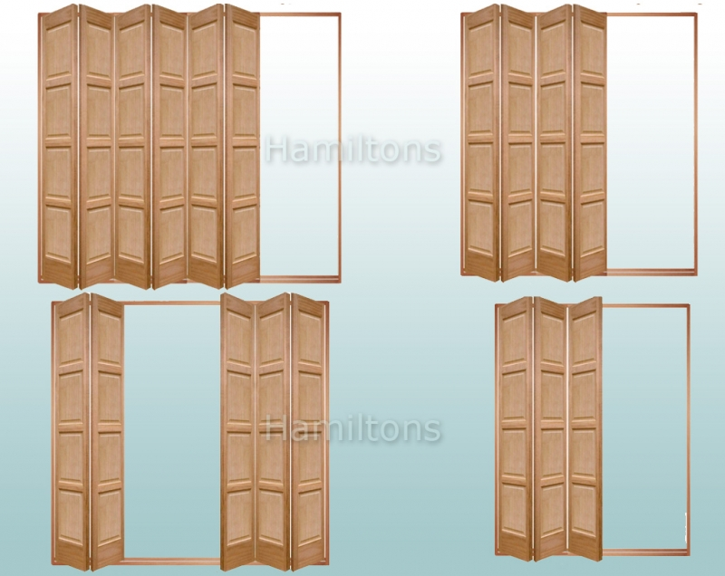 Slimfold Oak Bardsley 4 Panel. 3, 4, 5 and 6 Folding Doors - Save ...