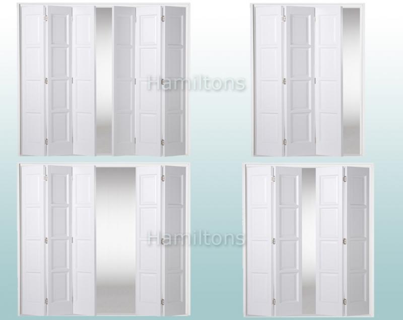 Slimfold White Bardsley 4 Panel. 3, 4, 5 and 6 Folding Doors - Save ...