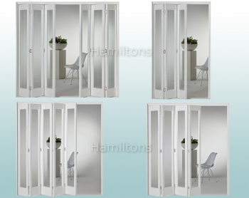 Slimfold White Marston Clear Glass 3, 4, 5 and 6 Folding Door System