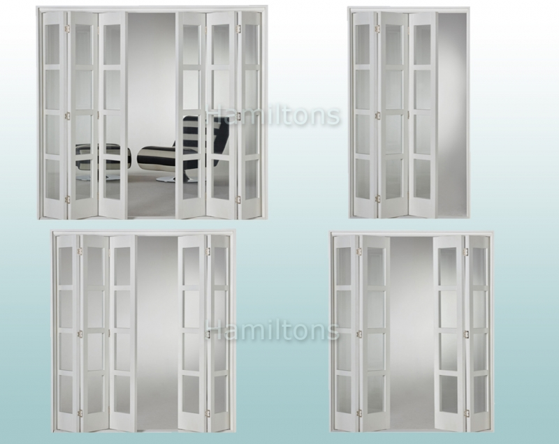 Slimfold White Shaker 4L Clear Glass 3, 4, 5 and 6 Folding Door System