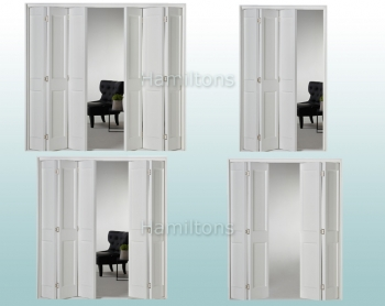 Slimfold White Victorian 2 Panel. 3, 4, 5 and 6 Folding Doors