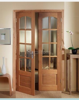 Woodland Oak Norbury W4 French Door Pair With Frame
