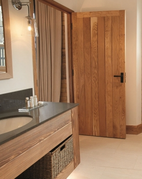 Solid Oak. Framed Butt and Bead Ledge And Brace Doors