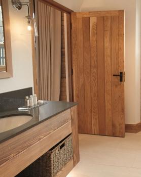 Solid Oak Framed Butt And Bead Doors