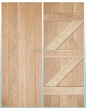 Woodland Solid Oak Prime Grade  V Groove Ledge and Brace Doors