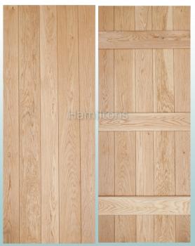 Woodland Prime Grade Solid Oak V Groove Ledge Doors