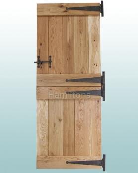 Woodland Solid Oak Rustic Grade Ledge Stable Door