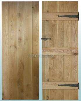 Woodland Solid Oak Rustic Grade V Groove Ledge Doors