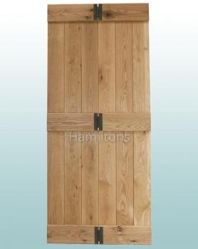 Woodland Solid Oak Rustic Grade Bi-Folding Doors With Hinges