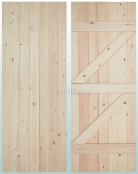 Woodland Solid Pine V Groove Ledge and Brace Doors