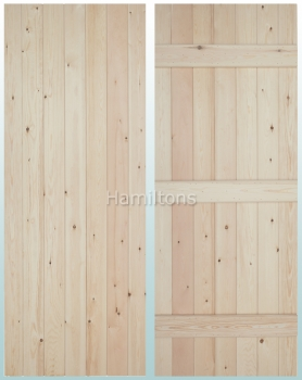 Woodland Solid Pine V Groove Ledge Doors