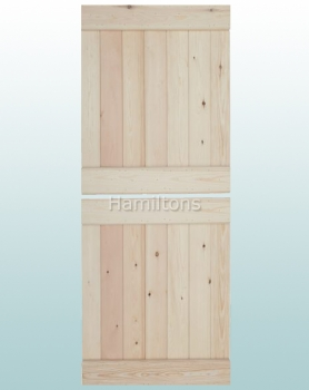 Woodland Solid Pine Ledge Design Stable Door