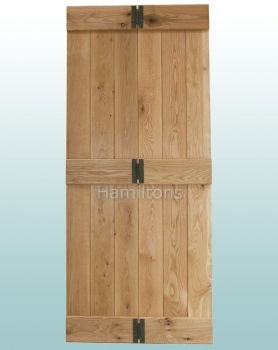Woodland Solid Oak Rustic Grade Bi-Folding Doors With Hinges