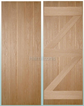 Woodland Oak Ledge and Brace FD30 Fire Doors