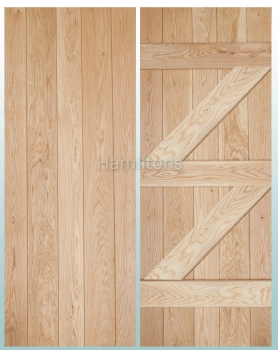Woodland Solid Oak Prime Grade  V Groove Ledge and Brace Doors