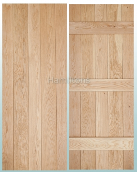 Woodland Solid Oak Prime Grade V Groove Ledge Doors