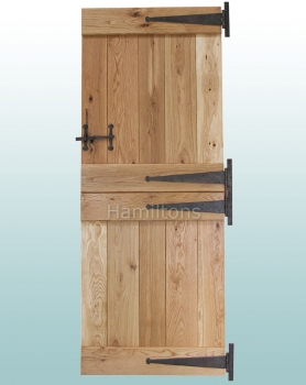 Woodland Solid Oak Rustic Grade Ledge Stable Door