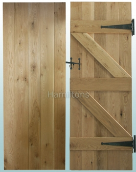 Woodland Solid Oak Rustic Grade V Groove Ledge and Brace Doors