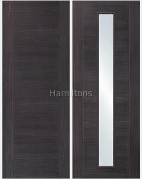 XL Joinery Mode Umber Grey Forli Panelled And Glazed Laminate Doors