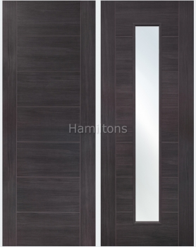 XL Joinery Mode Umber Grey Palermo Panelled And Glazed Laminate Doors