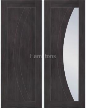 XL Joinery Mode Umber Grey Salerno Panelled And Glazed Laminate Doors